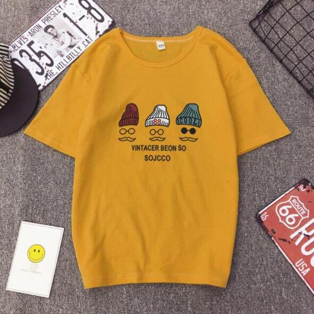 New Fashion Woman Tshirt High Quality Letters Print Short Sleeve Round Neck Cotton Tee shirt Women Loose Woman T shirt