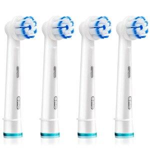 Image 3 - オーラルb EB60電気歯ブラシヘッド0.01ミリメートルソフト毛ヘッドディープクリーンガムケア戦闘ガム出血交換ブラシヘッド