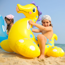 115x72cm summer plastic swimming pool sea horse swim ring pools adult kids baby intex large inflatable animal swimming pools