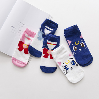 Anime Sailor Moon Socks Cosplay Costume Adult Socks Christmas Gifts Sailor Moon Cheville Casual Robe Chaussettes