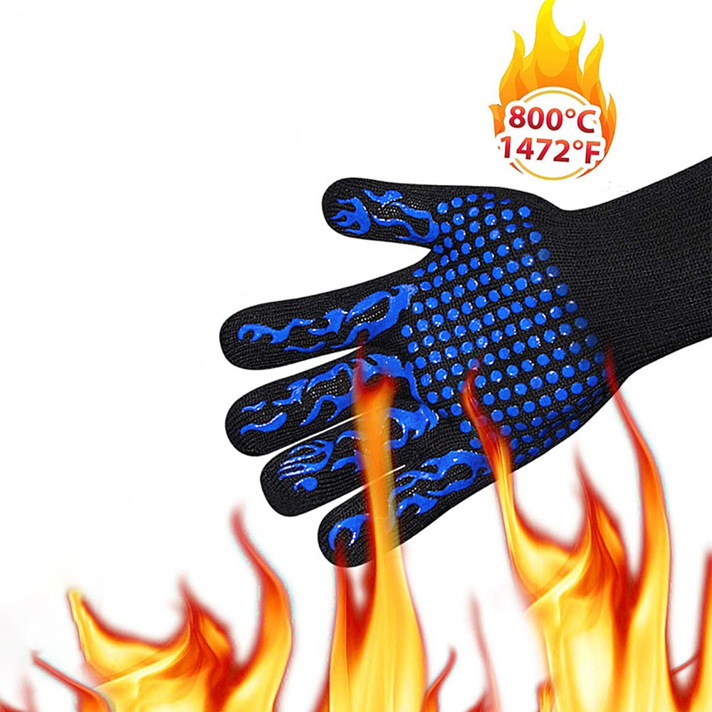 Fire Gloves High Temperature Resistant Gloves Microwave Oven Outdoor Barbecue 1472F BBQ Hot Flame Proof Working Gloves