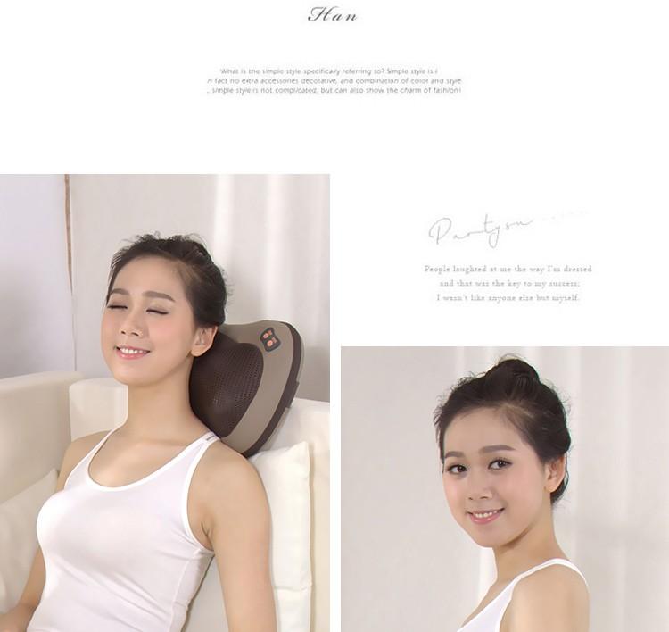 JinKaiRui Vibrating Kneading Neck Body Massager Hammer Pillow Infrared Shiatsu Electric Shoulder Back Massage Massages Car/Home 10