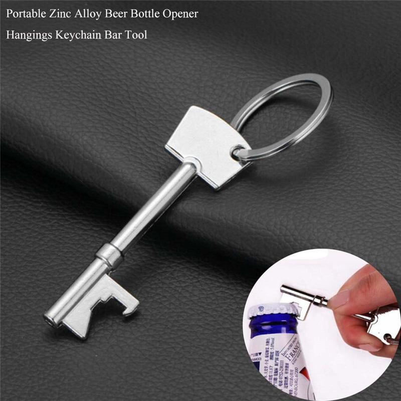 Hot Sale 1X Key Portable Bottle Opener Beer Bottle Can Opener Hangings Ring Keychain Tool