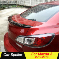 Car Rear Trunk Spoiler For Mazda 3 2010 2011 2012 2013 High Quality ABS Plastic Primer Color Car Tail Wing Decoration for mazda3