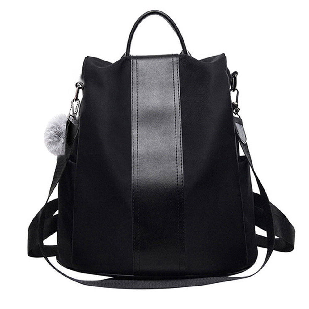 Backpack Women Schoolbag Shoulder-Bag Girls Bags Waterproof for Two-Way Concise