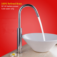 Hotel Bathroom Washbasin Sensor Automatic Tap 42cm High Hot and Cold Water Saving Auto Infrared Faucet