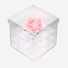 Transparent 2 Types Cosmetics Makeup Brushes Stand Holder Box Rose Keep Box Water Jet For Flowers Organizer Make Up Storage Case(China)