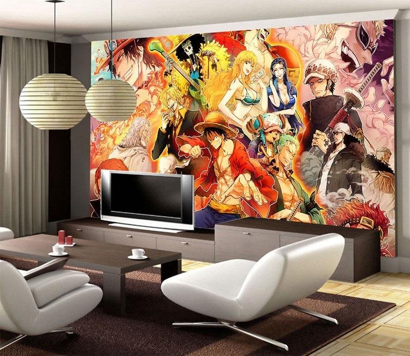 Japanese Anime 3d Wallpaper One Piece Wall Mural Cartoon Wallpaper For Walls Photo Wallpaper Kids Bedroom Tv Backdrop Room Decor 3d Wallpaper Wallpaper For Wallswallpapers For Aliexpress