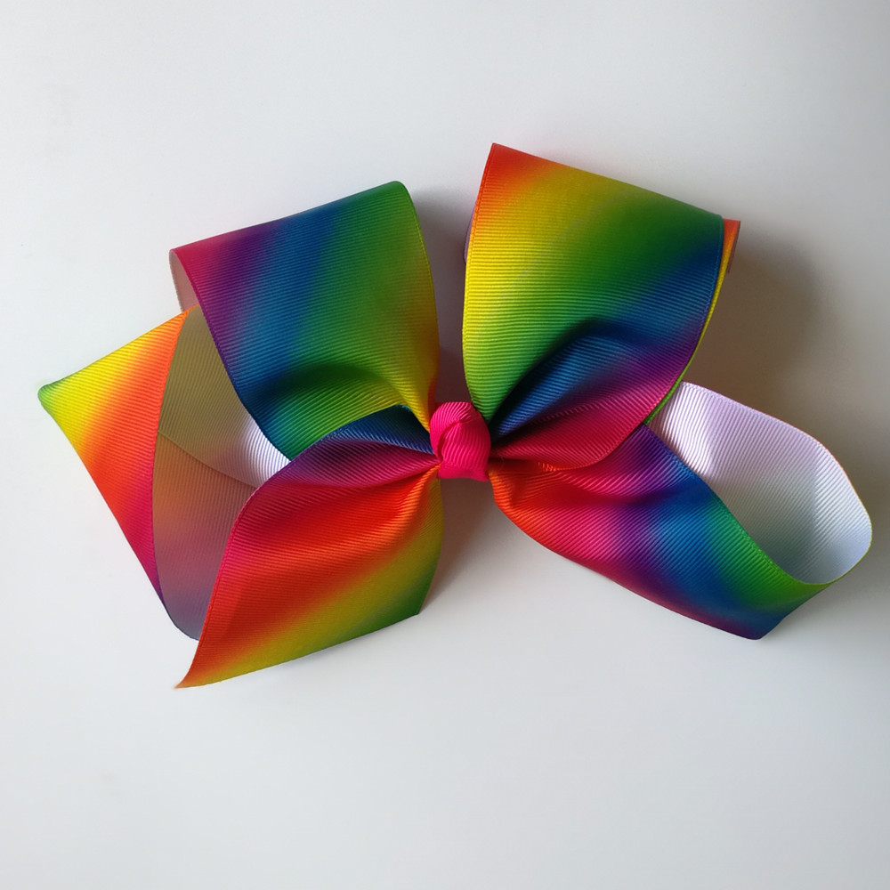 Least JOJO 8 39 39 grosgrain ribbon hair bows hair clips boutique rainbows bow girls hairbow For Teens Gift 120pcs lot in Hair Accessories from Mother amp Kids
