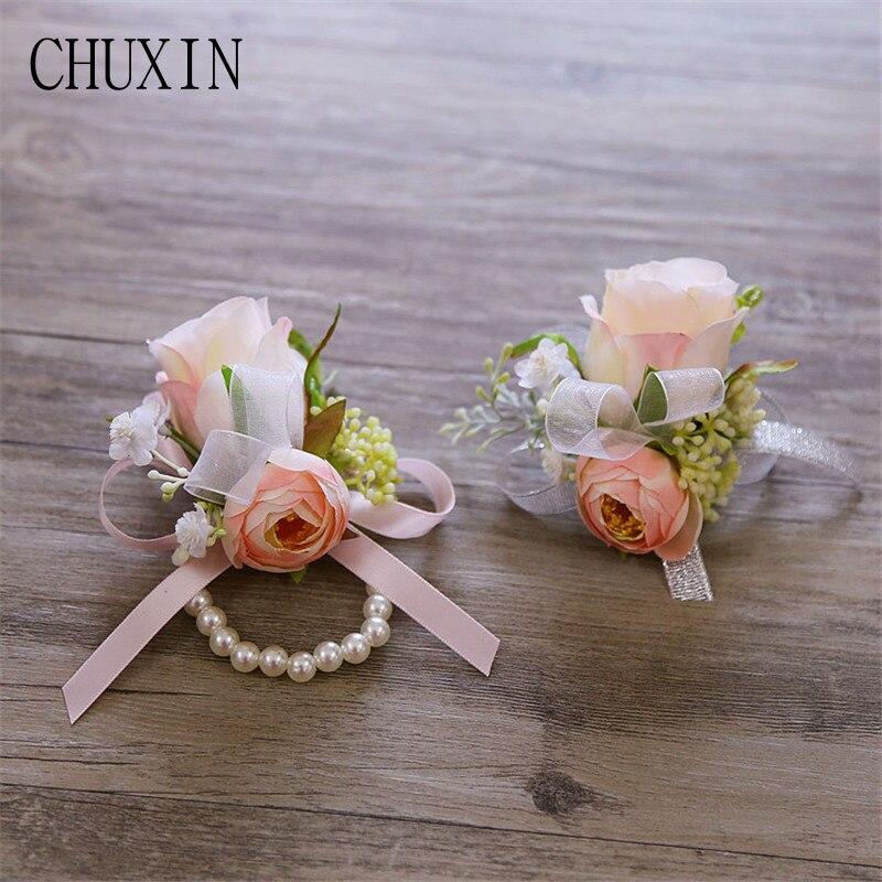Korean Wedding Flowers: Korean Style Wedding Corsage Wrist Flower Bridegroom Bride