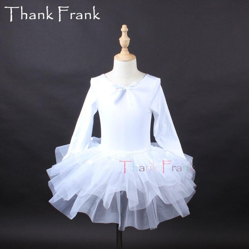 Filles Camisole Tutu Ballet robe enfants adulte arc à manches longues Ballet danse justaucorps robes femmes professionnel ballerine Costume C6 - 6