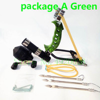 Archery Adult Powerful Fishing Slingshot Target Shooting with Folding Wrist Catapult Professional Slingshot Camping Tools