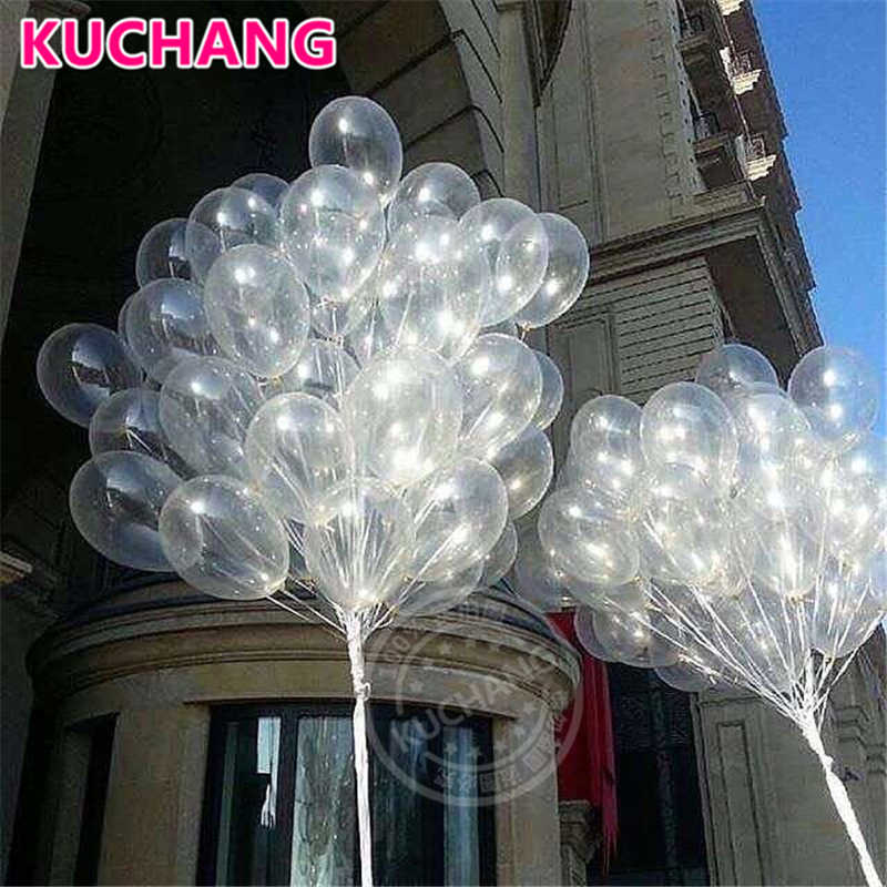 20 pçs 12 polegadas Limpar Balões de Látex Transparente Baby Shower Casamento Decor Do Partido Feliz  Suprimentos Hélio Globos