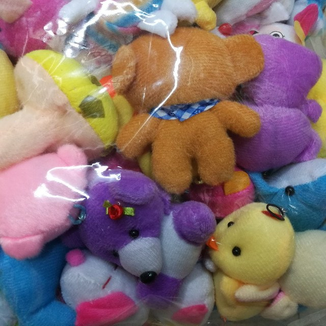 10pcs Random Styles Plush Toy 5-15cm Teddy bear duck chick Cute Soft Stuffed Dolls For Kids Christmas Gift