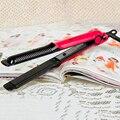 2-em-1 Alisador de Cabelo/Escova de Cabelo Flat Iron Curler dry & wet, 360-Rotation Rápido Elétrico Curling Alisamento Escova Hot venda