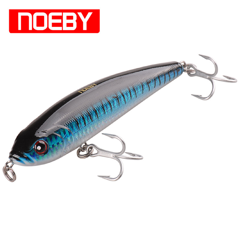 Noeby Pencil Bait 140mm/66g Sinking0.8-2.6m VMC Treble Hook Fishing Lure Hard Baits Fish Pesca Isca Artificial Leurre Peche noeby pencil bait 140mm 66g sinking0 8 2 6m vmc treble hook fishing lure hard baits fish pesca isca artificial leurre peche