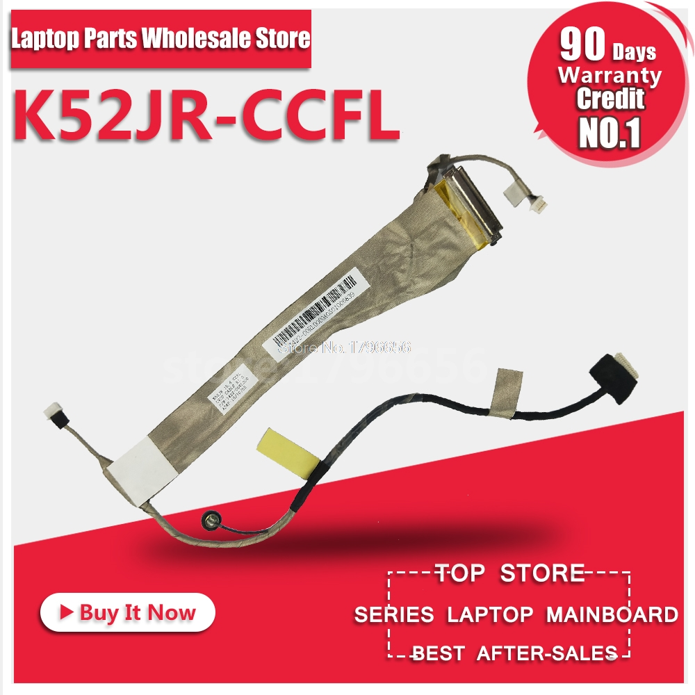 Original LCD Replacement Parts For ASUS K52 A52 X52 K52J A52J X52J K52F A52F X52F K52D K52DR K52N Laptop Screen Video Flex Cable