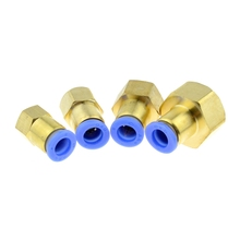 Air Pneumatic 8mm OD Hose Tube Push In 1/2PT 1/4BSPT 1/8 3/8 Female Thread Gas Joint Connector Brass Quick Fittings schwarzkopf gliss kur bio tech restore weekly therapy rinse out intense treatment