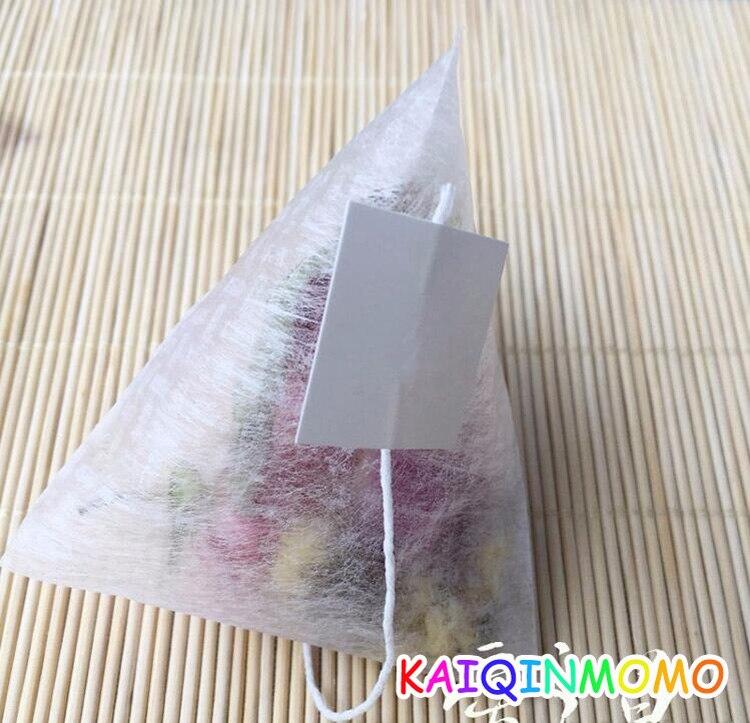 1000pcs lot 58 70mm Corn Fiber Tea bags Pyramid Shape Heat Sealing Filter Teabags food grade