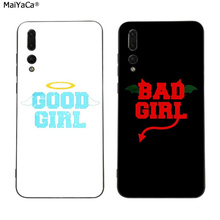 цена на BFF best friends good bad girl phone case for Huawei P20 P30 Pro P20 lite P10 plus Mate 10 20 pro Honor view 10 Y7 Y9 2019