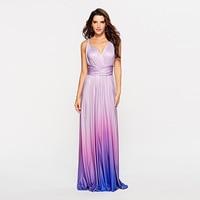 Elagant Party Maxi Long Dress Women Multiway Wrap Dresses Gradient Convertible Boho Bandage Dress Bridesmaids Infinity Robe