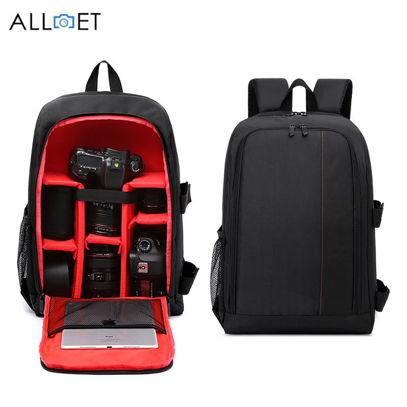 Accessories & Parts Consumer Electronics Popular Brand Alloet Multi-functional Camera Backpack Digital Dslr Slr Camera Bag Waterproof Outdoor Photo Video Bag Case For Nikon Canon Sony