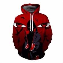 цена на Naruto jacket Akatsuki Hoodie Anime Boruto Uchiha Itachi 3D hoodies Anime Sasuke Cosplay Costume Hoody 5XL