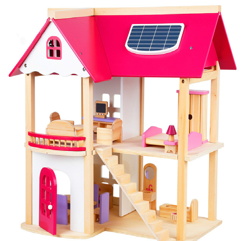 Aliexpress Com Buy Large Diy Model Girl Toy House Assemble Villa