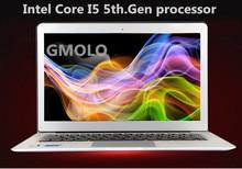 13.3inch ultrabook laptop Intl Core I5 5th.Gen processor 4GB 128GB SSD backlit keyboard 1920*1080 HD screen Windows 10 computer