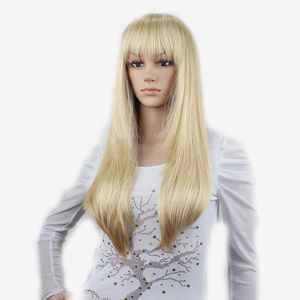 Straight Platinum Blonde Wig