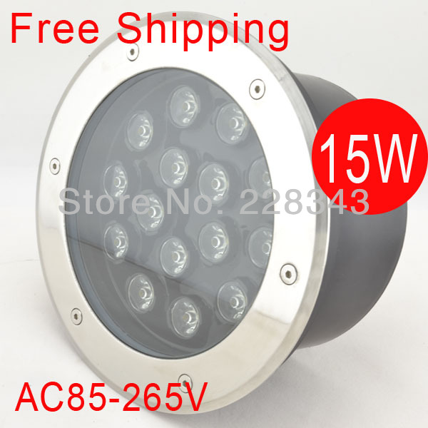 Free Shipping 15W 85-265V LED buried light flooring light LED underground lamp inground lamp IP68 CE&RoHS 2year warranty hot free shipping 5w led underground lamp dc12v ip68 waterproof 2 years warranty ce