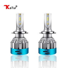 Katur H4 Hi-Lo Beam H7 H11 9006 H27/W 880 881 LED Car Headlight Bulbs CSP Chips DC 12v Auto Headlamp Fog Light Bulb HB4 Led(China)