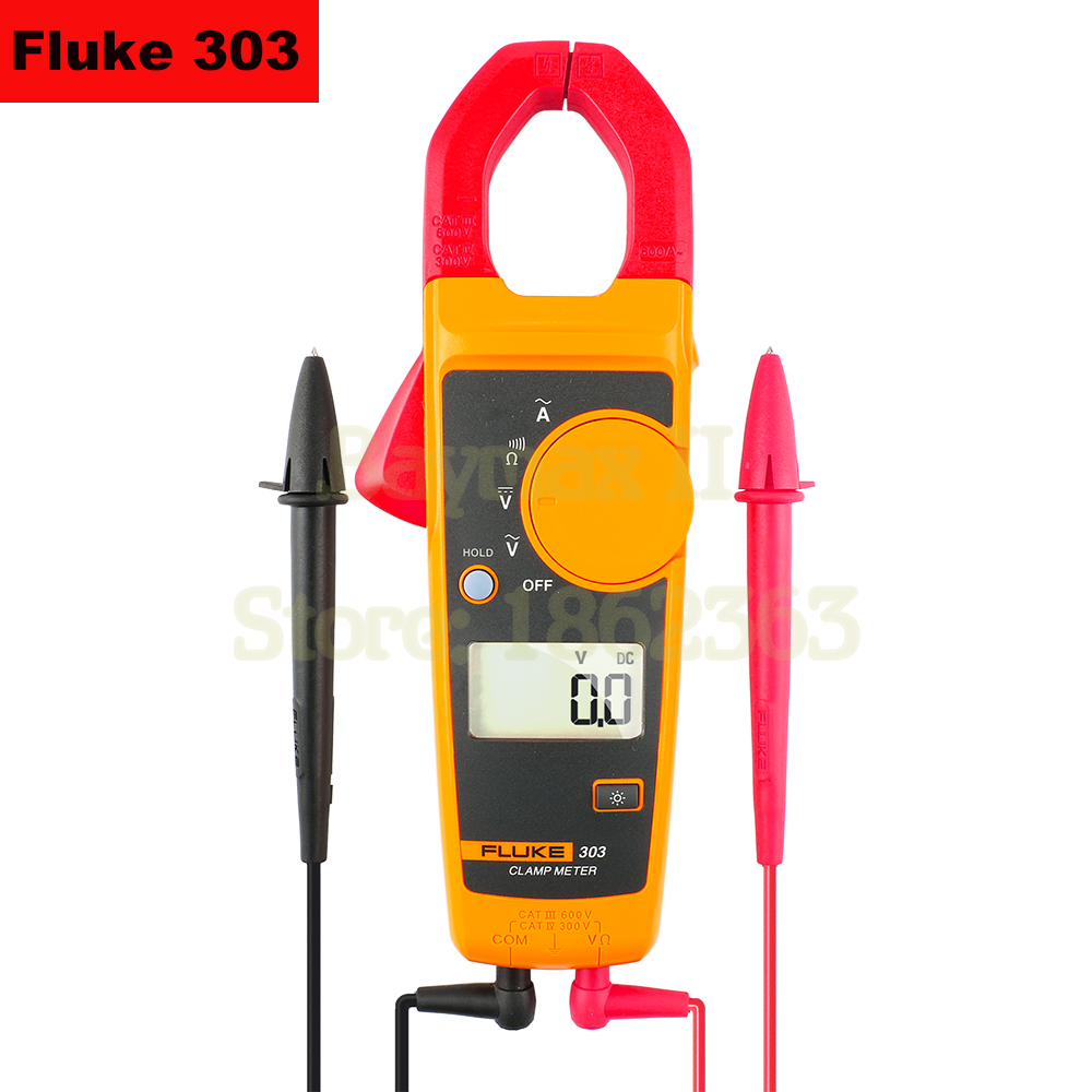 Fluke303 305 600A 999A AC Digital Clamp Meter with 600V AC DC Voltage Test and Ohm