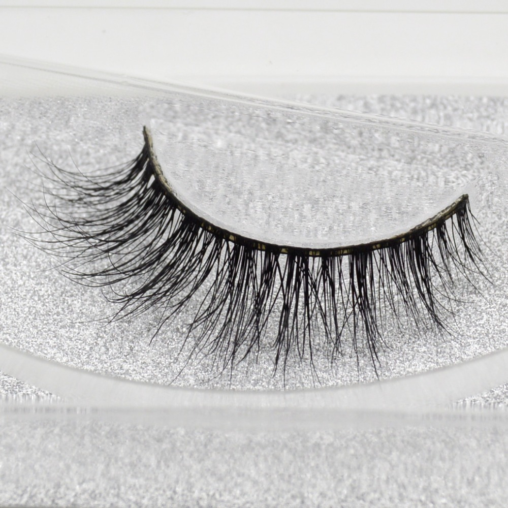 Visofree Mink False Eyelashes Classic Collection Upper Lashes Natural & Lightweight Mink Lashes 1 Pair Glitter Packaging A13