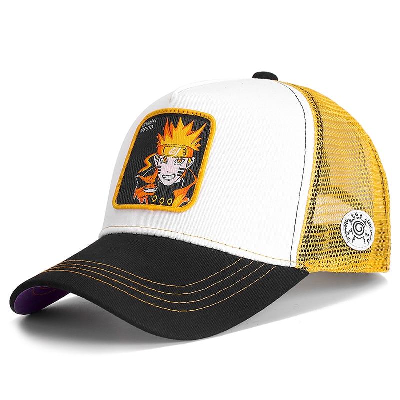 NARUTO New Brand UZUMAKI NARUTO Anime Snapback Cap Cotton Baseball Cap Men Women Hip Hop Dad Mesh Hat Trucker Dropshipping