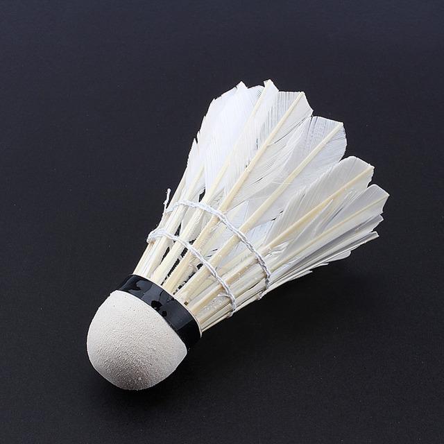 Hot Sale 12pcs/lot Badminton Shuttlecocks Goose Feather Shuttlecock Badminton Balls Outdoor Sports Badminton Accessories