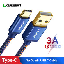Ugreen USB C Cable for Xiaomi Mi 8 3A USB Type C Cable Fast Charge Data Cable for Samsung Galaxy S9 Nintend Switch USB Charger(China)