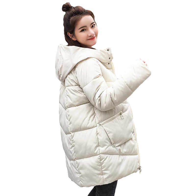 0d3b0204d407 Толстый теплый с капюшоном Длинная парка Для женщин пуховик Зимнее пальто  стеганая куртка женская зимняя куртка