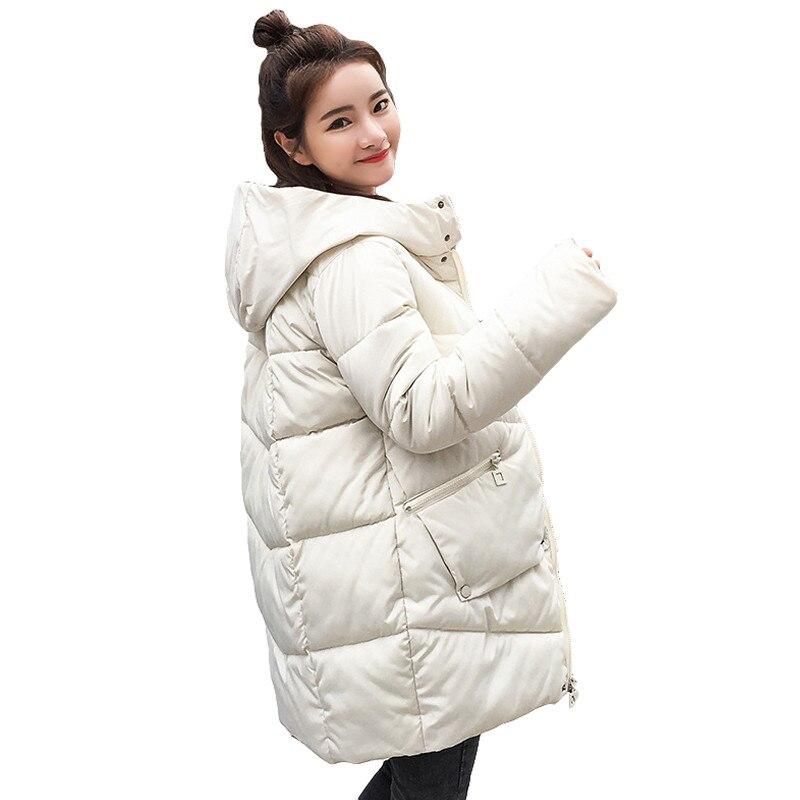 Chaud épais À Capuche Long Down Parkas Femmes Vers Le Bas Veste Manteau D'hiver Coton Rembourré Veste Femme Hiver Veste Manteau Femelle Nouveau 2018