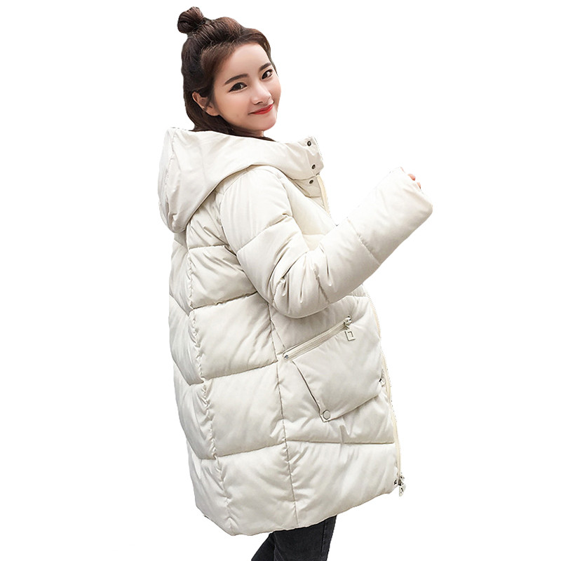 Thick Warm Hooded Long Down Parkas Women Down Jacket Winter Coat Cotton Padded Jacket Woman Winter Jacket Coat Female New 2019
