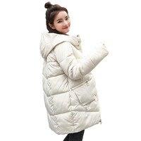 Thick Warm Hooded Long Down Parkas Women Down Jacket Winter Coat Cotton Padded Jacket Woman Winter Jacket Coat Female New 2019