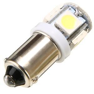 Image 4 - For Car Lighting 10PCS/Lot T11 BA9S 5050 5 SMD LED White Light Bulb Car light Source Car 12V Lamp T4W 3886X H6W 363 Mayitr