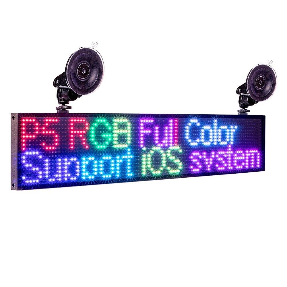 12 v Auto P5MM 16*96 Punti RGB Led Segno di colore completo Programmabile di scrolling informazioni Multi-funzio LED pannello di visualizzazione