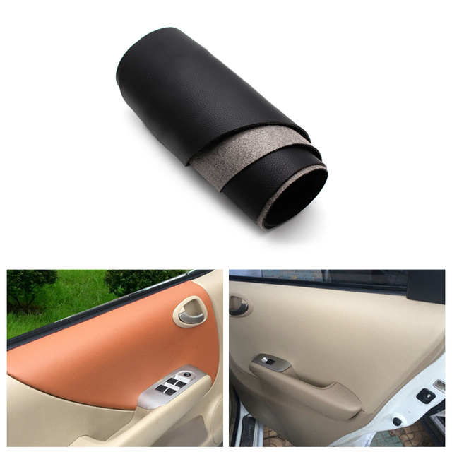 Cubierta de Panel de reposabrazos de puerta Interior de cuero de microfibra para ajuste Honda/Jazz 2004 2004 2005 2006 2007 Hatchback/Sedán