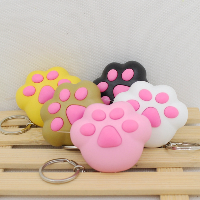 kawaii cats paw led keychain with Meow meow sound, Flashlight keychains,cute keyrings,the cats toys3#