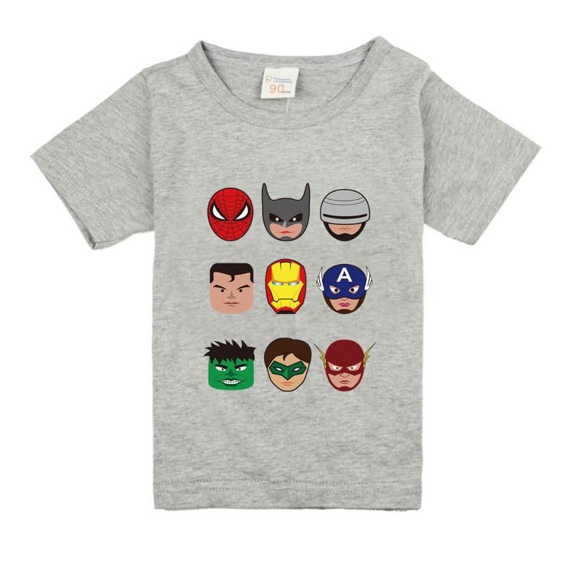T-Shirts Super-Hero Tops Short-Sleeve Kids Clothing Girls Boys Fashion Children Cotton