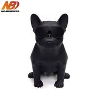 NO BORDERS Big Size Bull Dog Wireless Bluetooth Speaker Bulldog Outdoor Portable HIFI Bass USB AUX Nano Subwoofer For Household