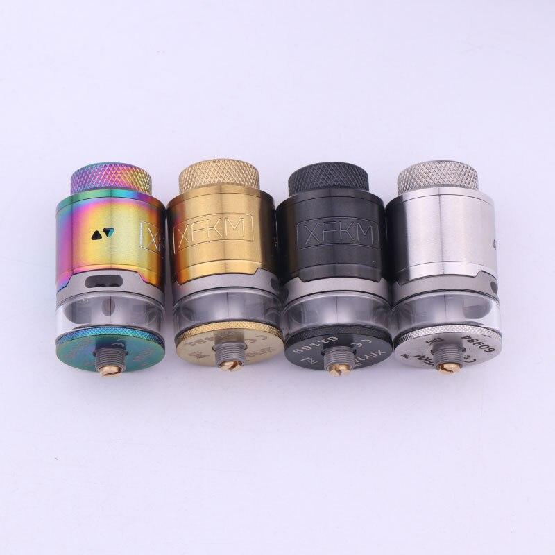 NUOVO XFKM 24mm RDTA FAI DA TE Dual Coils 3 ml Grande Capacità Atomizzatore Serbatoio 510 Discussione Sigaretta Elettronica Ricostruibile Vape