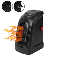 Mini Handy Electric Heater Portable Space Home Wall Outlet Warmer Fan Air Heater