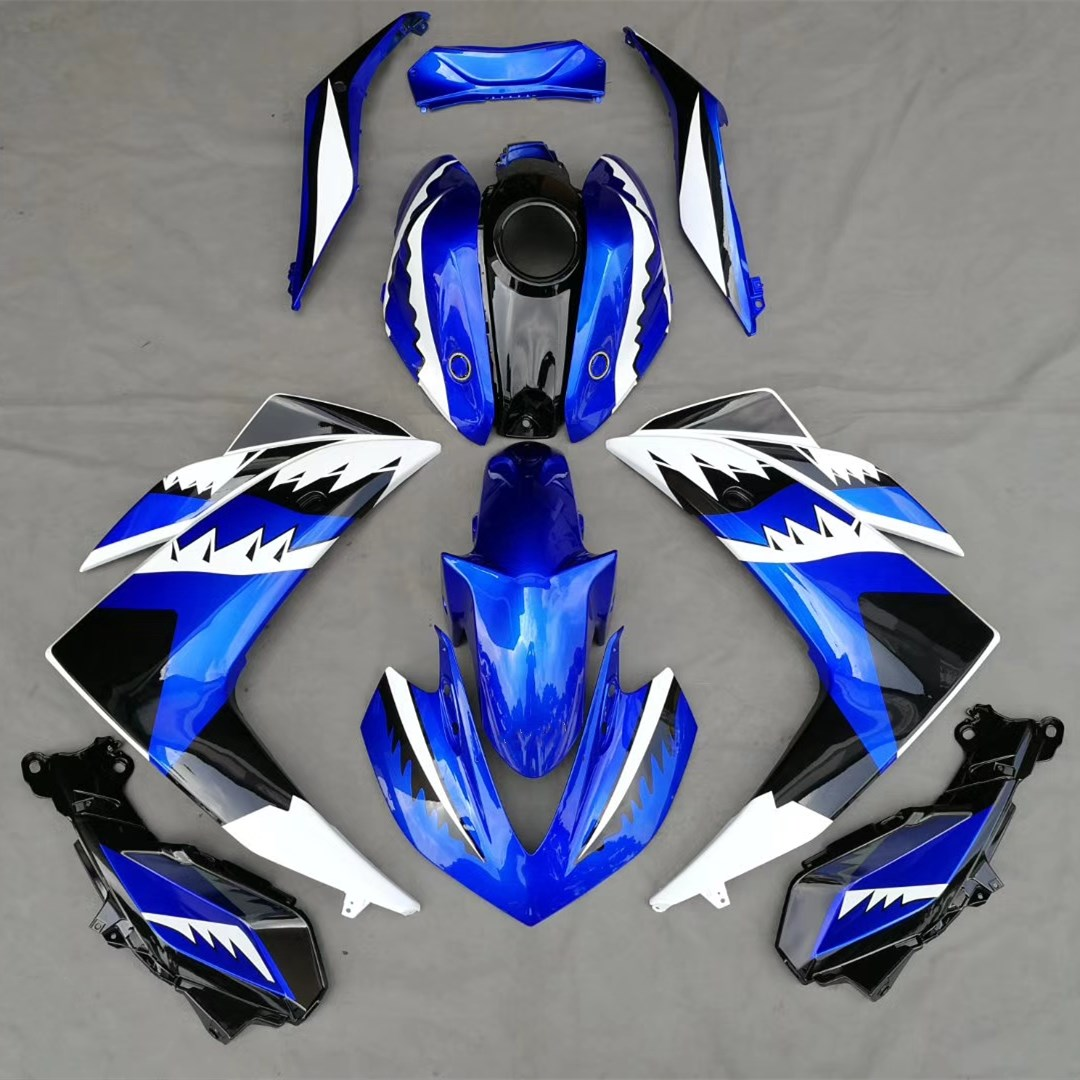 Motorcycle Bodywork Fairing Kit For Yamaha R25 R3 YZF 2015 YZFR25 YZFR3 YZF-R25 YZF-R3 15 Blue Fairings Cover Injection Molding for yamaha yzf r25 14 15 yzf r3 2015 motorcycle accessories front